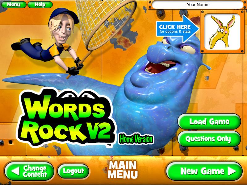 Words rock slug buster game